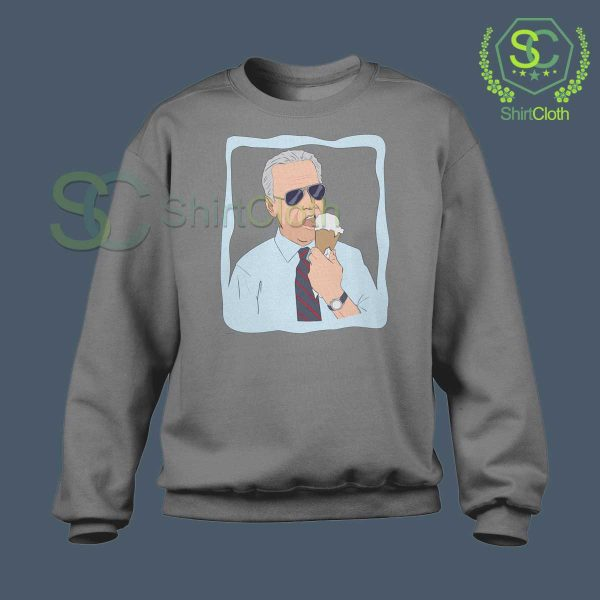 Joe-Biden-Ice-Cream-Gray-Sweatshirt