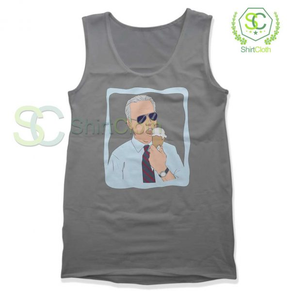 Joe-Biden-Ice-Cream-Gray-Tank-Top