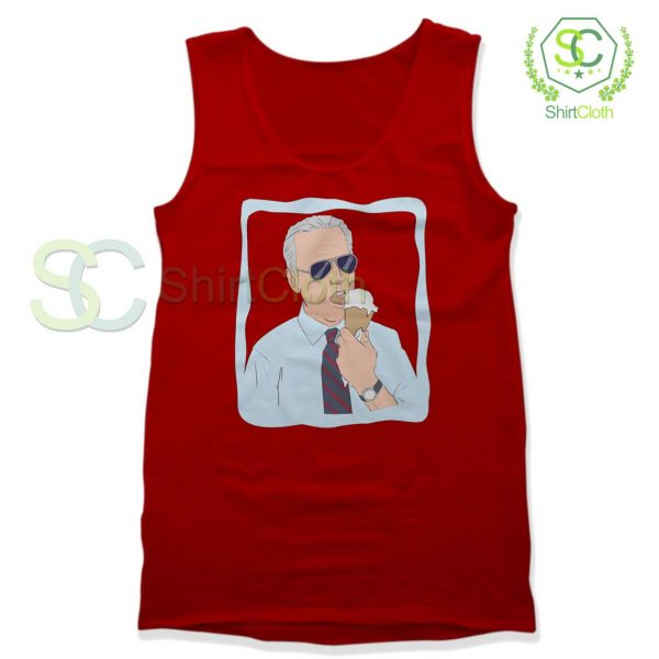 Joe-Biden-Ice-Cream-Red-Tank-Top
