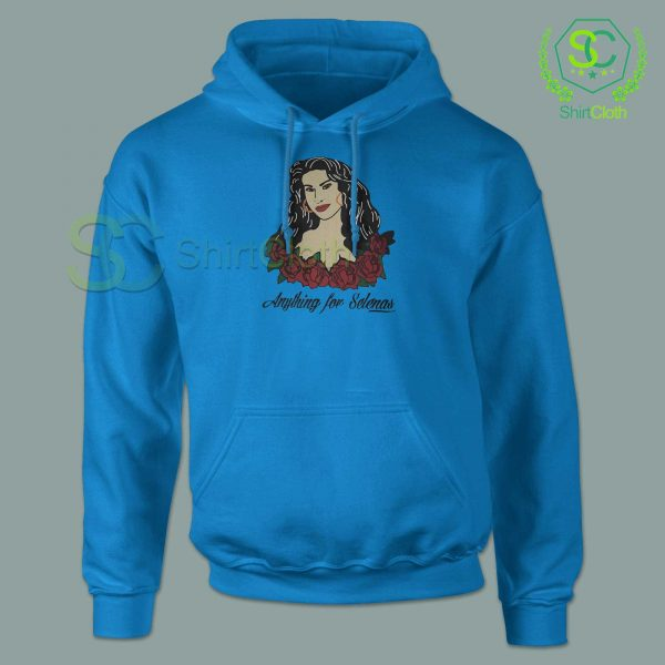 Anything-For-Selenas-Blue-Hoodie