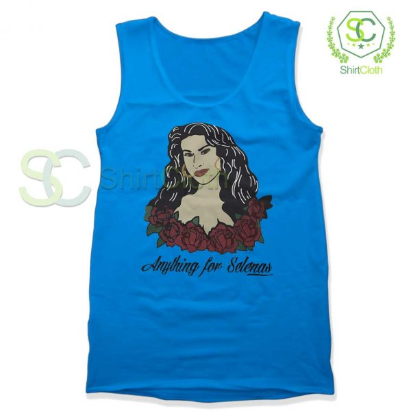 Anything-For-Selenas-Blue-Tank-Top
