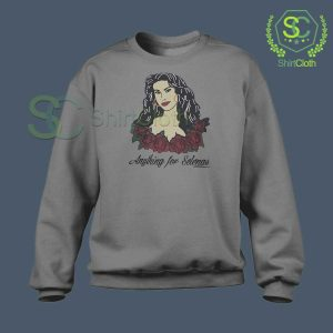 Anything-For-Selenas-Gray-Sweatshirt
