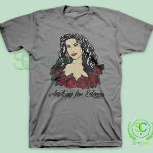 Anything-For-Selenas-Gray-T-Shirt
