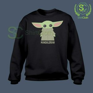 Baby-Yoda-The-Mandalorian-Black-Sweatshirt