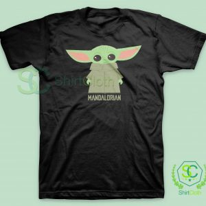 Baby-Yoda-The-Mandalorian-Black-T-Shirt