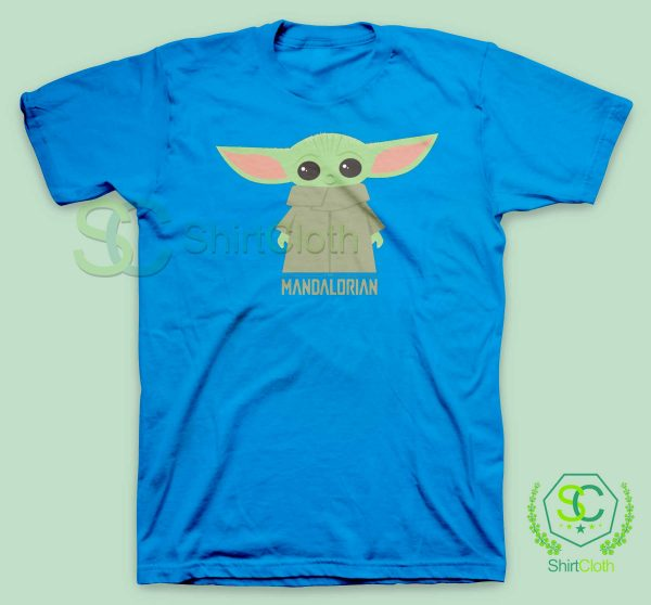 Baby-Yoda-The-Mandalorian-Blue-T-Shirt