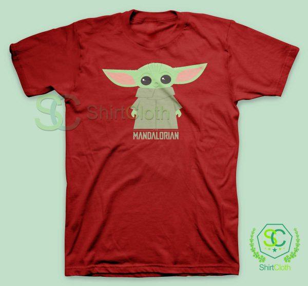 Baby-Yoda-The-Mandalorian-Red-T-Shirt