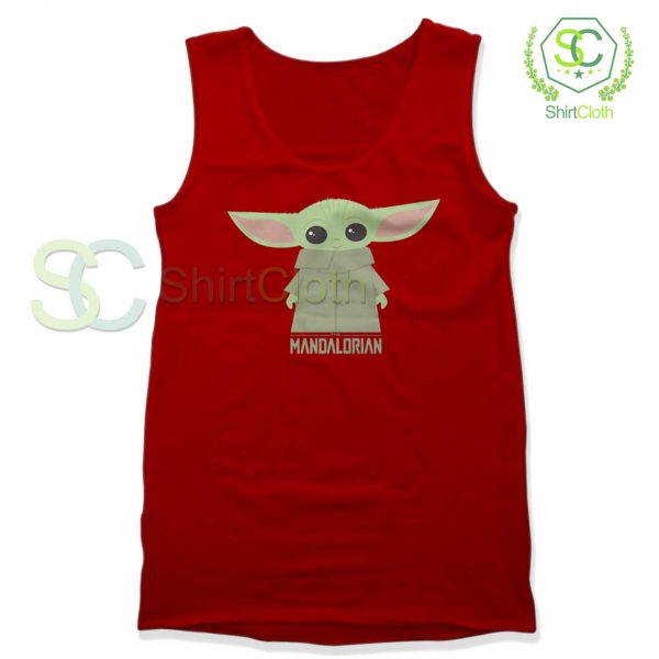 Baby-Yoda-The-Mandalorian-Red-Tank-Top