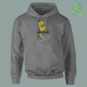Bart-Simpson-Savage-Gray-Hoodie