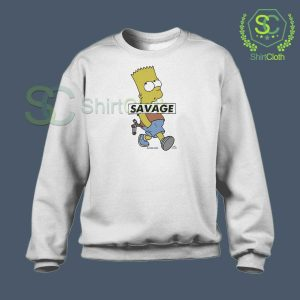 Bart-Simpson-Savage-Sweatshirt