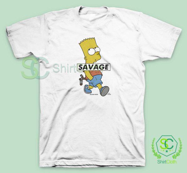 Bart-Simpson-Savage-T-Shirt