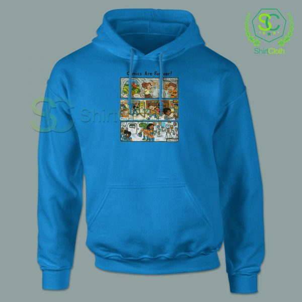 Comic-Are-Forever-Blue-Hoodie