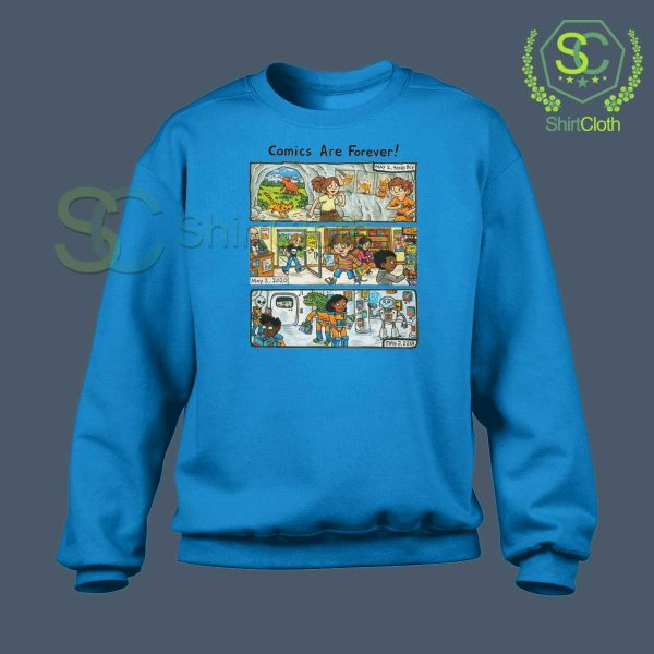 Comic-Are-Forever-Blue-Sweatshirt