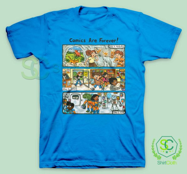 Comic-Are-Forever-Blue-T-Shirt