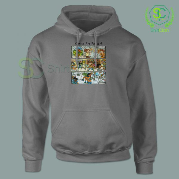 Comic-Are-Forever-Grey-Hoodie