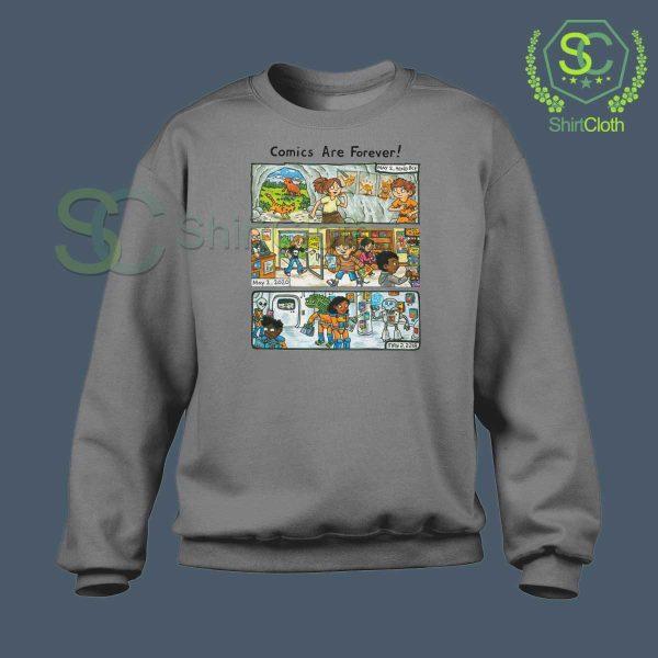 Comic-Are-Forever-Grey-Sweatshirt
