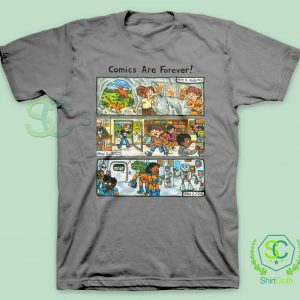 Comic-Are-Forever-Grey-T-Shirt