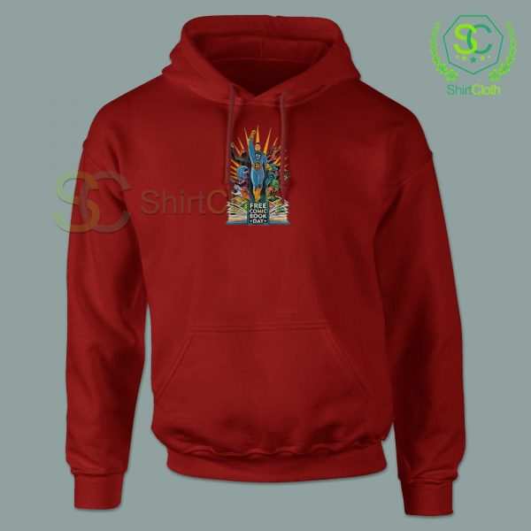 Free-Comic-Book-Day-Red-Hoodie