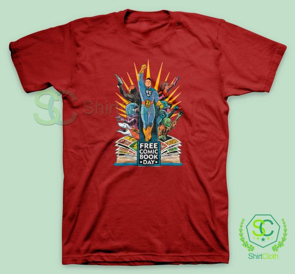 Free-Comic-Book-Day-Red-T-Shirt