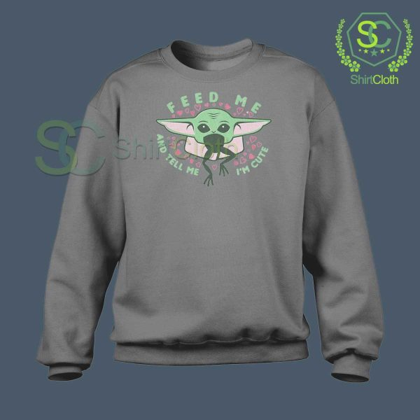 Mandalorian-Valentines-Day-Gray-Sweatshirt