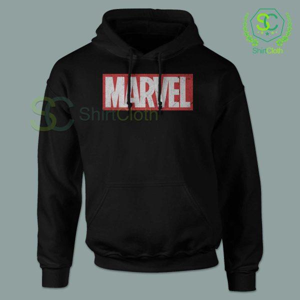 Marvel-Logo-Black-Hoodie