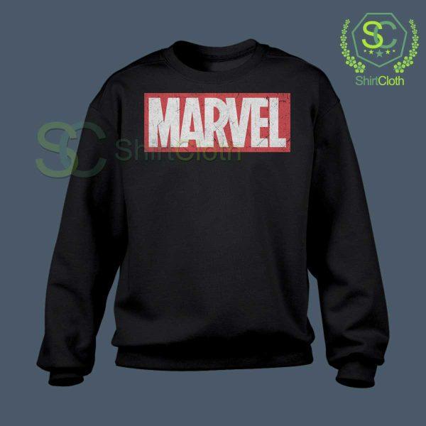 Marvel-Logo-Black-Sweatshirt