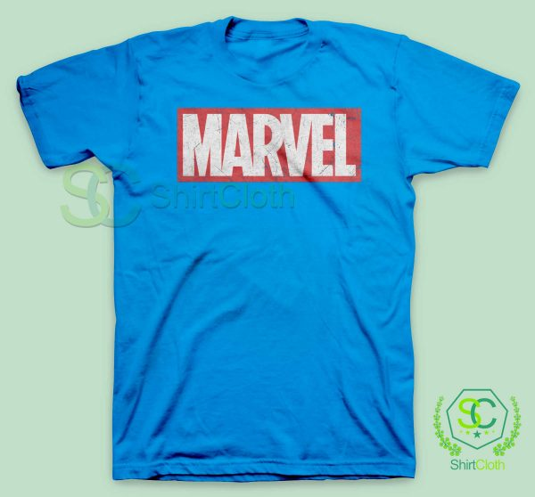 Marvel-Logo-Blue-T-Shirt