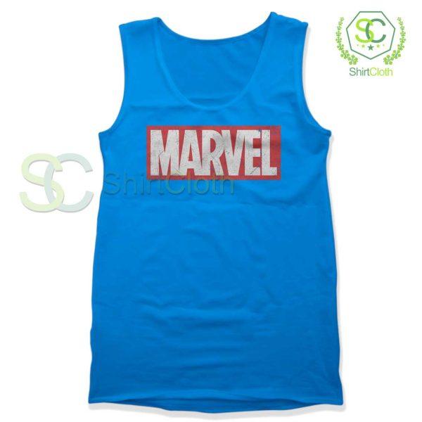 Marvel-Logo-Blue-Tank-Top
