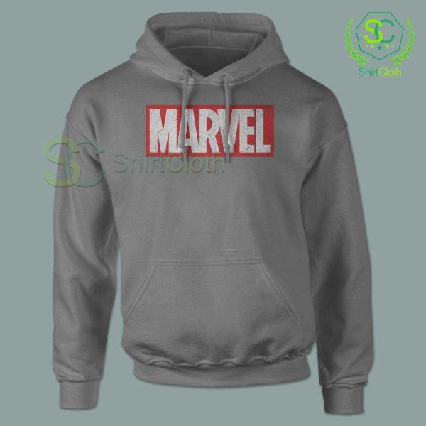 Marvel-Logo-Gray-Hoodie