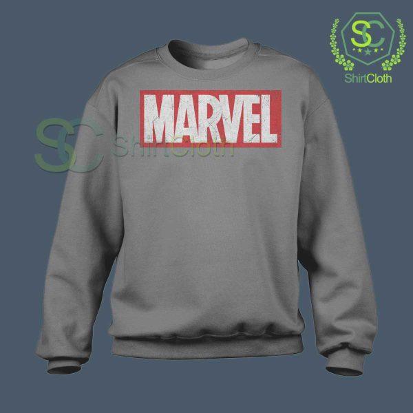 Marvel-Logo-Gray-Sweatshirt