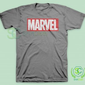 Marvel-Logo-Gray-T-Shirt