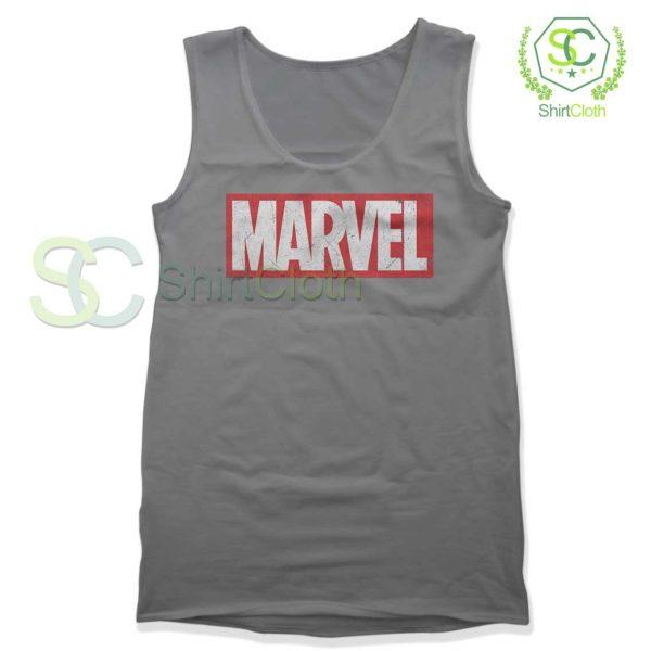 Marvel-Logo-Gray-Tank-Top