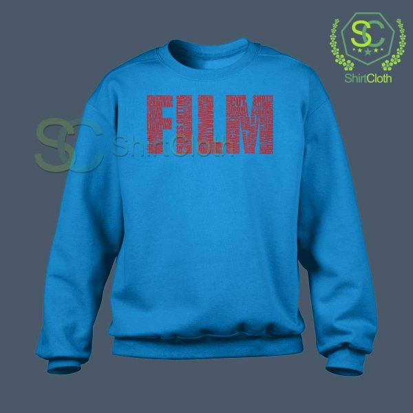 Black-and-White-Movies-Typography-Blue-Sweatshirt