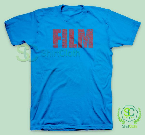 Black-and-White-Movies-Typography-Blue-T-Shirt