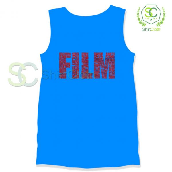 Black-and-White-Movies-Typography-Blue-Tank-Top
