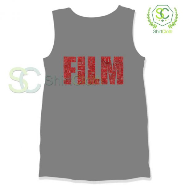 Black-and-White-Movies-Typography-Grey-Tank-Top