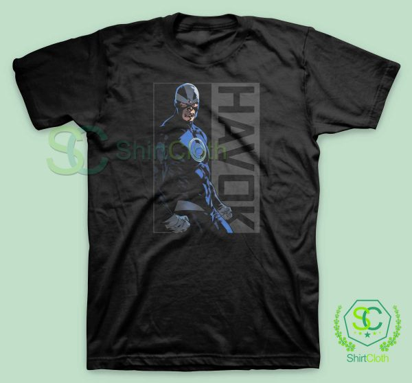 Havok-Marvel-Black-T-Shirt