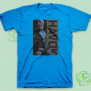 Havok-Marvel-Blue-T-Shirt