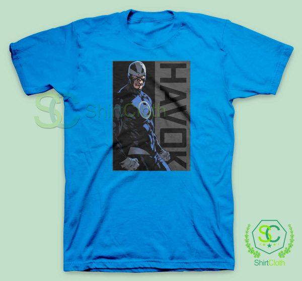 Havok-Marvel-Blue-T-Shirt