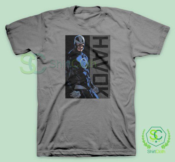 Havok-Marvel-Grey-T-Shirt