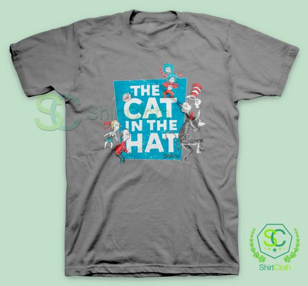 The-Cat-in-the-Hat-Logo-Grey-T-Shirt