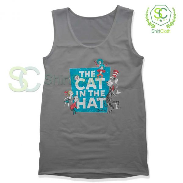 The-Cat-in-the-Hat-Logo-Grey-Tank-Top