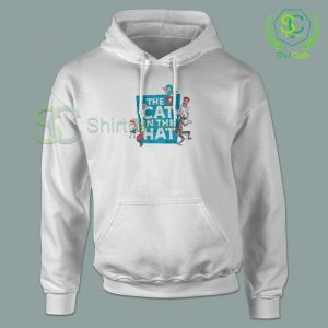 The Cat in the Hat Logo White Hoodie