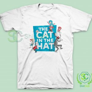 The-Cat-in-the-Hat-Logo-White-T-Shirt