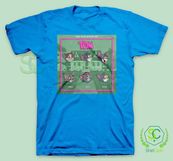 The-Evolution-Of-Tom-Blue-T-Shirt