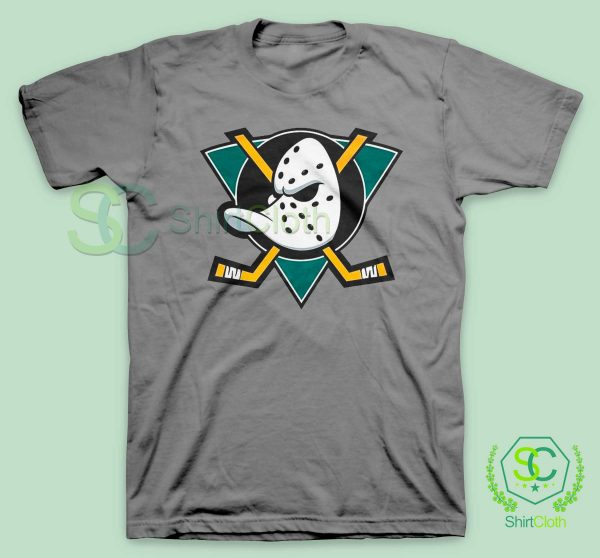 The-Mighty-Ducks-Gray-T-Shirt