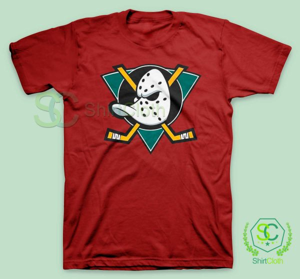 The-Mighty-Ducks-Red-T-Shirt
