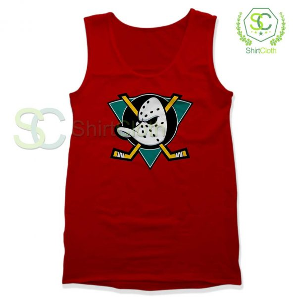 The-Mighty-Ducks-Red-Tank-Top