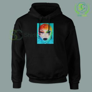 Beauty Blu Hydrangea Black Hoodie