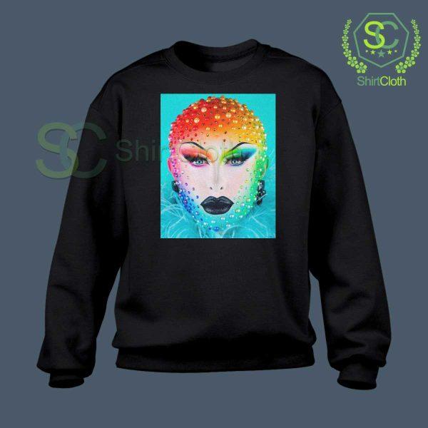 Beauty-Blu-Hydrangea-Black-Sweatshirt